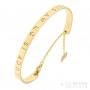 laser engraved gold bracelet
