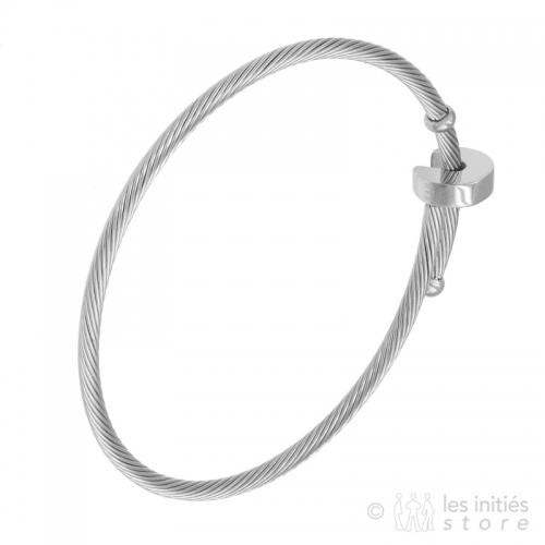 bracelet cable Zag Bijoux acier