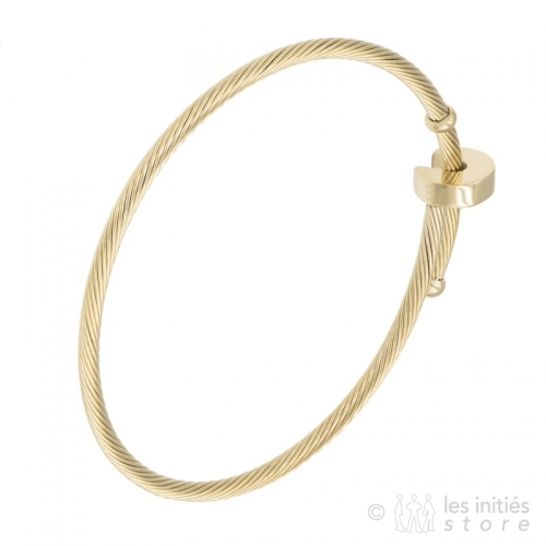 wire gold bracelet