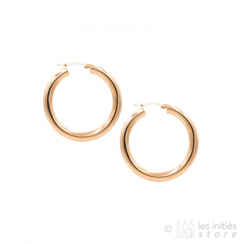 rose gold thick hoop earrings