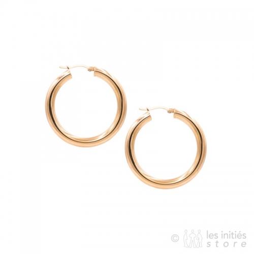 rose gold thick hoop earrings