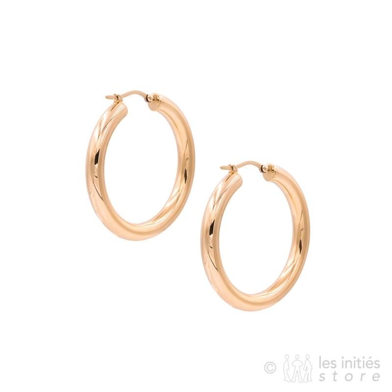 Boucles dorées rosées Zag Bijoux