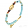 shell gold bracelet and stone