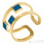 Bague dorée et bleue anallergique