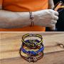 colored man bracelet