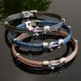 bracelets cables acier