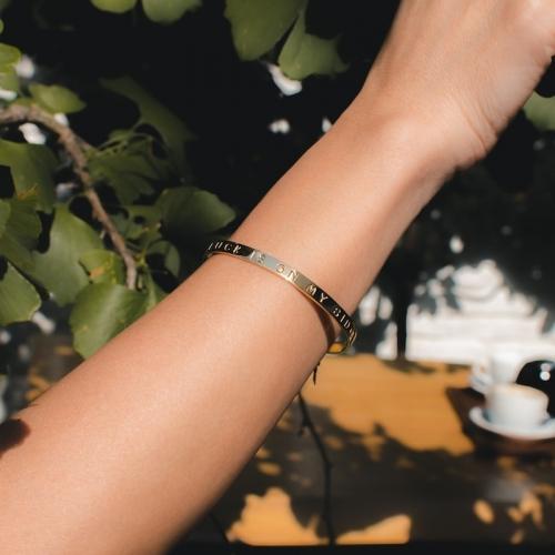 Zag bangle bracelet LUCK IS...