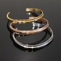 bracelets acier couleurs