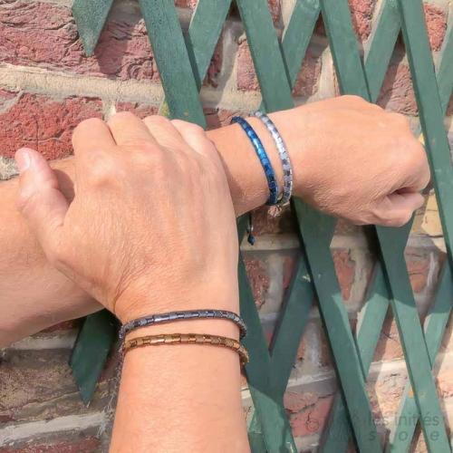 steel beads men bracelet