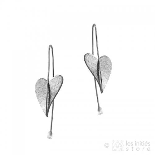 boucles pendantes coeur