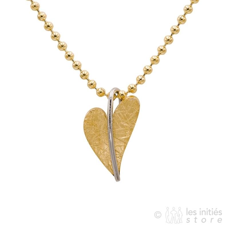 collier petit coeur doré