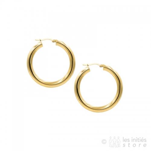 trendy french hoop earrings gold