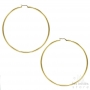 hoop earrings 9 cm gold