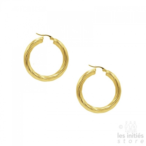 twisted Creoles 4 cm - gold