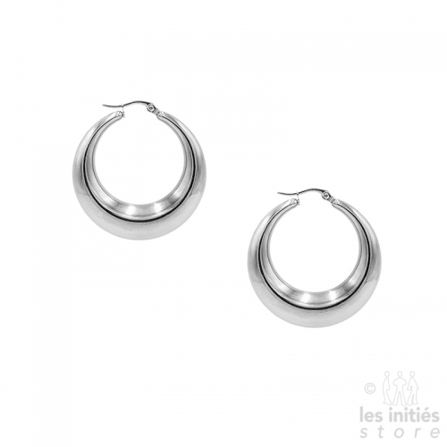 modern hoop earrings steel
