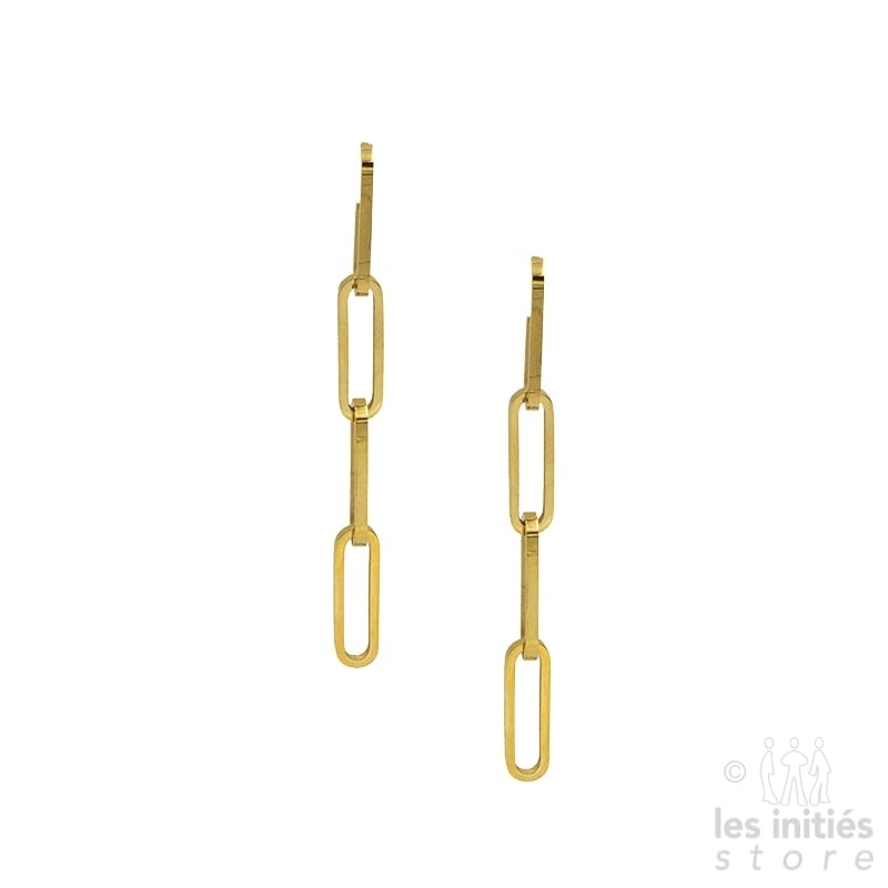 Les Initiés earrings chain - gold