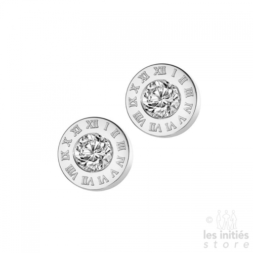 Les Initiés stud earrings numbers - steel