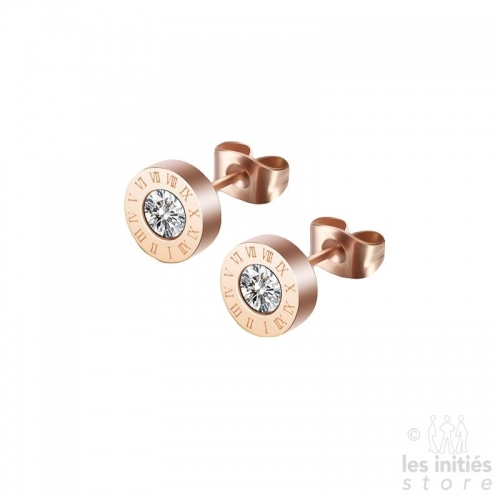 rose gold stud earrings