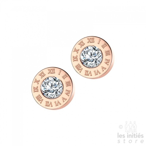 Les Initiés stud earrings numbers - rose gold