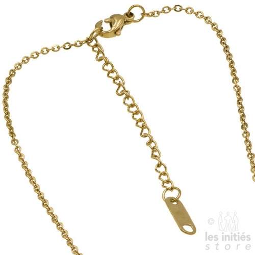 Les Initiés necklace numbers rhinestone - gold
