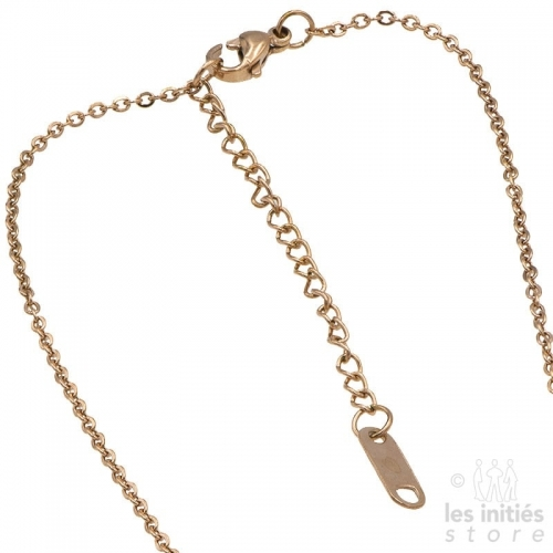 Les Initiés necklace numbers rhinestone - rose gold