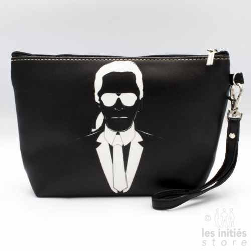 black makeup pouch