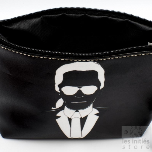 Lined Makeup Pouch - black