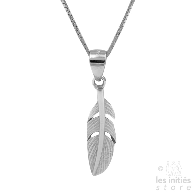 Les Initiés small feather necklace - 925 Sterling Silver