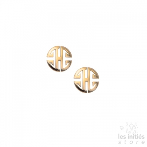 "Les Initiés ""Prosperity"" stud earrings - rose gold"