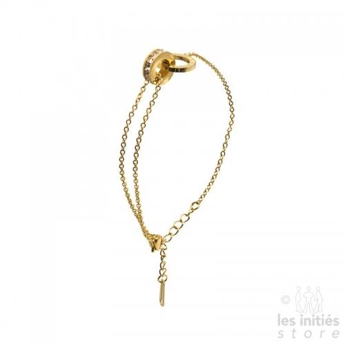 Bracelet montre doré