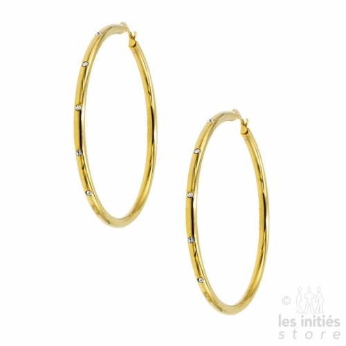 strass hoop earrings