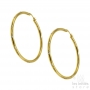 Les Initiés hoop rhinestone earrings 5.6 cm - 0.3 cm - gold