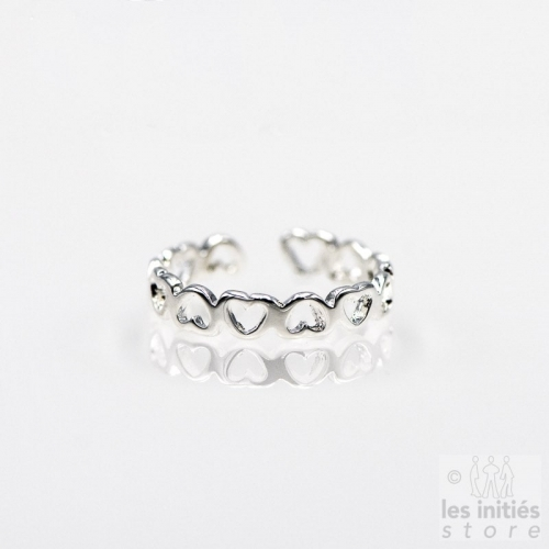 Les Initiés little hearts ring - 925 Sterling Silver