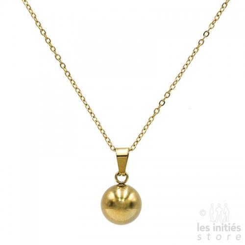 Collier boule 1,2 cm doré
