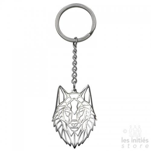 Porte clés Les Initiés loup acier