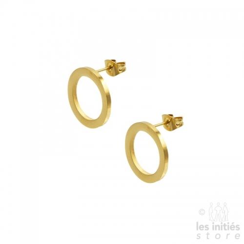 Boucles d'oreilles anneaux Les Initiés 1,6 cm doré