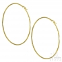 Les Initiés maxi hoop earrings 8.4 cm - 0.2 cm - Gold
