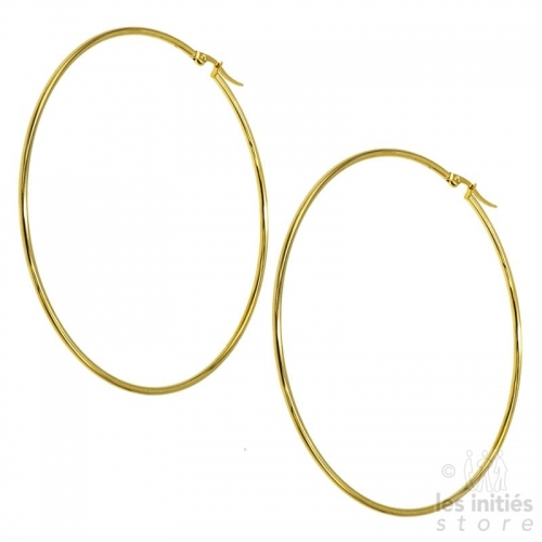 huge hoop earrings gold
