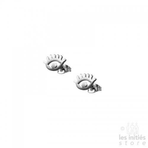Boucles d'oreilles Les Initiés œil acier