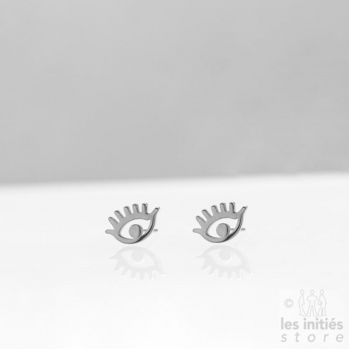 Les Initiés eye earrings - Steel