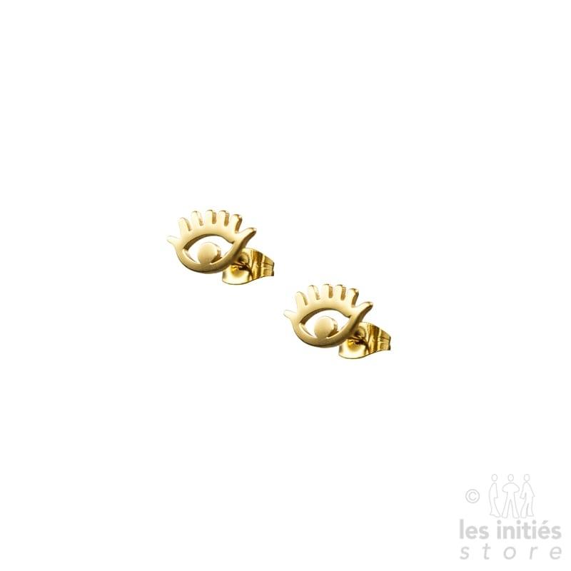 Boucles d'oreilles Les Initiés œil dorées
