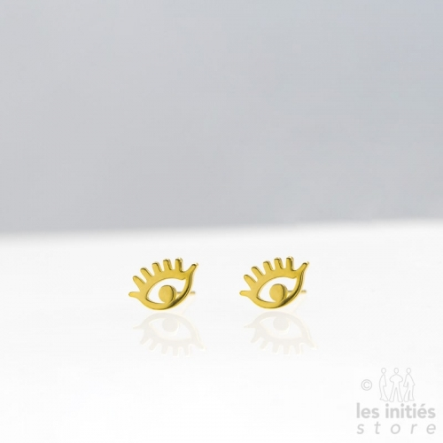 Les Initiés eye earrings - Gold