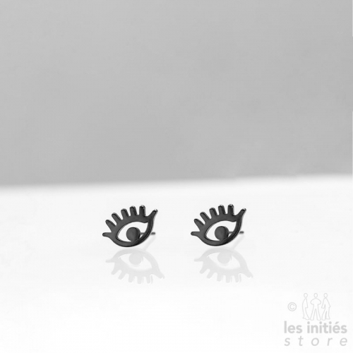 Les Initiés eye earrings -...