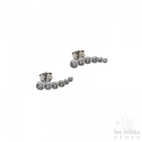 Boucles d'oreilles série de strass Les Initiés - Argent 925