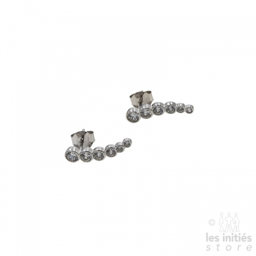 Les Initiés series of rhinestones earrings - 925 sterling silver