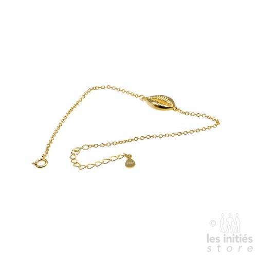 Bracelet coquillage Les Initiés - Argent 925 plaqué or