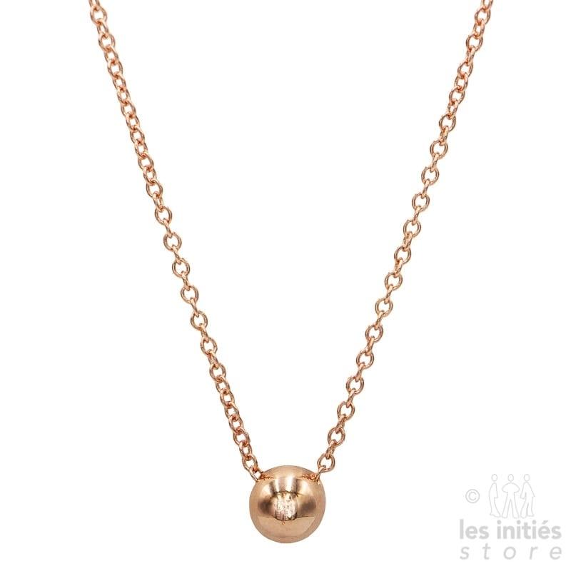 Collier bille Les Initiés - Argent 925 plaqué or rose