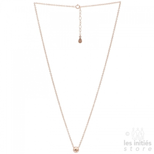 Les Initiés ball necklace - 925 Sterling Silver rose gold plated