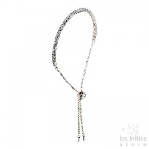 Bracelet strass argent tendance