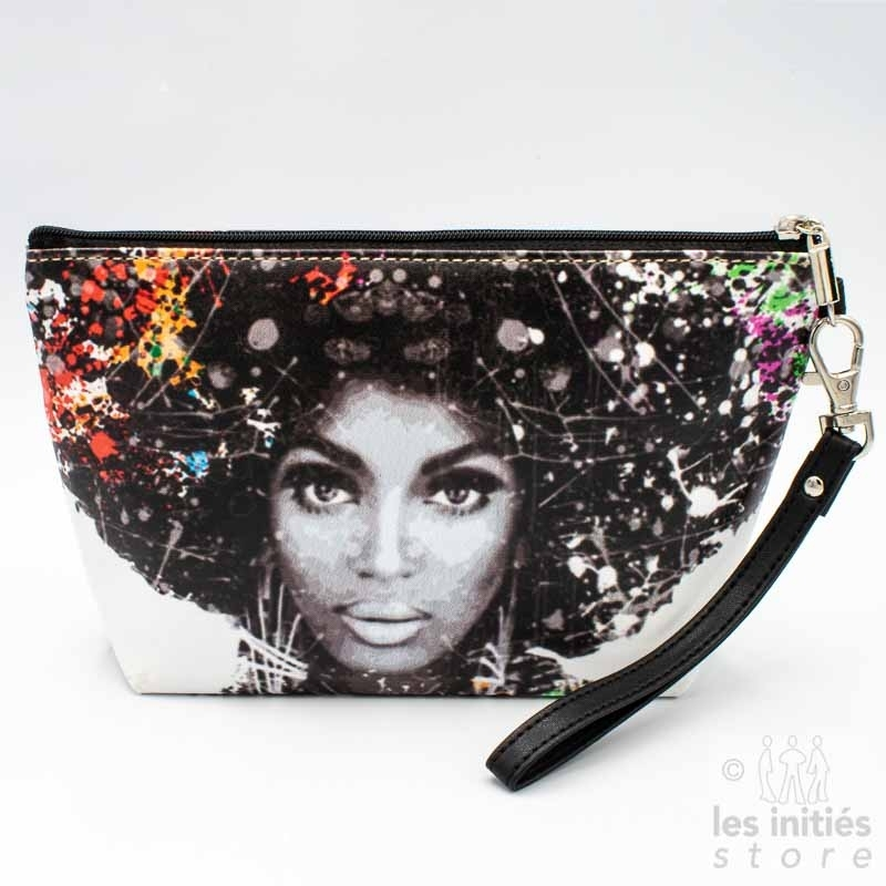 Les Initiés lined makeup case black afro woman